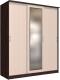 Шкаф Интерлиния Неаполь АН-012-19-01 (БФ) (дуб молочный/дуб венге) -