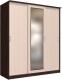 Шкаф Интерлиния Неаполь АН-012-20-01 (БФ) (дуб молочный/дуб венге) -