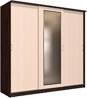 Шкаф Интерлиния Неаполь АН-012-24-01 (БФ) (дуб молочный/дуб венге) -