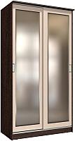 Шкаф Интерлиния Неаполь АН-011-12-02 (БФ) (дуб молочный/дуб венге) -
