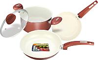 Набор кухонной посуды Vitesse VS-2216 (красный) -