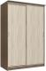 Шкаф Интерлиния Неаполь АН-011-15-00 (БФ) (ясень шимо светлый/ясень шимо темный) -