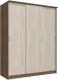 Шкаф Интерлиния Неаполь АН-012-18-00 (БФ) (ясень шимо светлый/ясень шимо темный) -