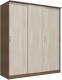 Шкаф Интерлиния Неаполь АН-012-20-00 (БФ) (ясень шимо светлый/ясень шимо темный) -