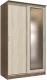 Шкаф Интерлиния Неаполь АН-011-13-01 (БФ) (ясень шимо светлый/ясень шимо темный) -