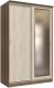 Шкаф Интерлиния Неаполь АН-011-14-01 (БФ) (ясень шимо светлый/ясень шимо темный) -