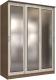 Шкаф Интерлиния Неаполь АН-012-17-03 (БФ) (ясень шимо светлый/ясень шимо темный) -