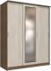 Шкаф Интерлиния Неаполь АН-012-18-01 (БФ) (ясень шимо светлый/ясень шимо темный) -