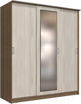 Шкаф Интерлиния Неаполь АН-012-20-01 (БФ) (ясень шимо светлый/ясень шимо темный)