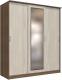 Шкаф Интерлиния Неаполь АН-012-20-01 (БФ) (ясень шимо светлый/ясень шимо темный) -