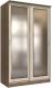 Шкаф Интерлиния Неаполь АН-011-13-02 (БФ) (ясень шимо светлый/ясень шимо темный) -