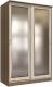Шкаф Интерлиния Неаполь АН-011-14-02 (БФ) (ясень шимо светлый/ясень шимо темный) -