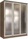 Шкаф Интерлиния Неаполь АН-012-18-03 (БФ) (ясень шимо светлый/ясень шимо темный) -