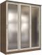 Шкаф Интерлиния Неаполь АН-012-20-03 (БФ) (ясень шимо светлый/ясень шимо темный) -
