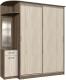 Шкаф в прихожую Интерлиния Андора АН16.00.04 (ясень шимо светлый/ясень шимо темный) -
