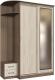 Шкаф в прихожую Интерлиния Андора АН12.01.03 (ясень шимо светлый/ясень шимо темный) -