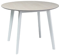 Обеденный стол Signal Mosso II (беленый дуб/белый) -