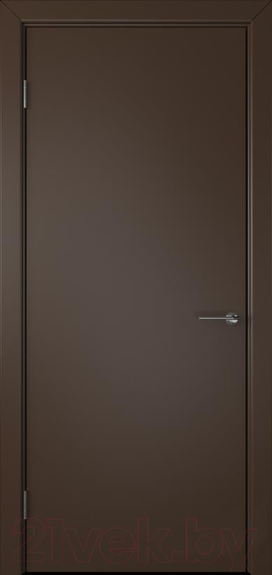Купить Дверь межкомнатная Юркас, Colorit К6 ДГ 80x200 (шоколад), Беларусь