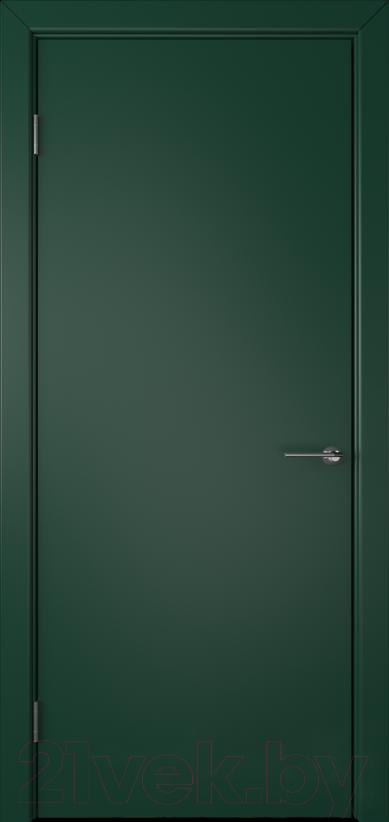 Купить Дверь межкомнатная Юркас, Colorit К6 ДГ 70x200 (зеленый), Беларусь