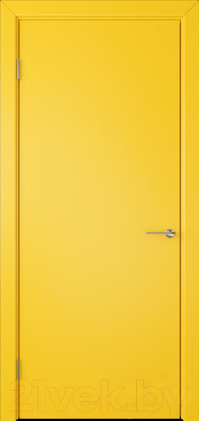 Купить Дверь межкомнатная Юркас, Colorit К6 ДГ 60x200 (желтый), Беларусь