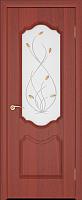 Дверь межкомнатная Юркас ПВХ Стандарт ПО Орхидея 80x200 (итальянский орех/матовое) -