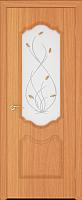 Дверь межкомнатная Юркас ПВХ Стандарт ПО Орхидея 80x200 (миланский орех/матовое) -