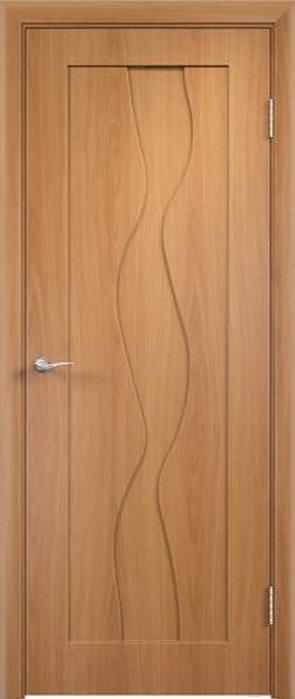 Купить Дверь межкомнатная Юркас, ПВХ Стандарт ПГ Вираж 80x200 (миланский орех), Беларусь
