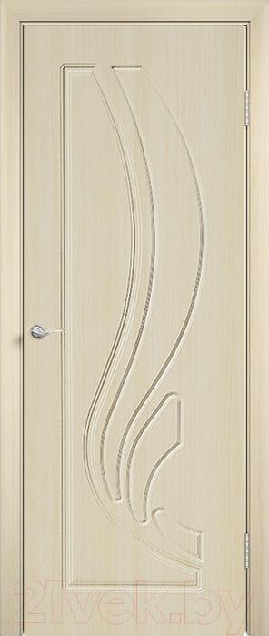 Купить Дверь межкомнатная Юркас, ПВХ Стандарт ПГ Лиана 80x200 (беленый дуб), Беларусь