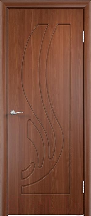 Купить Дверь межкомнатная Юркас, ПВХ Стандарт ПГ Лиана 80x200 (итальянский орех), Беларусь