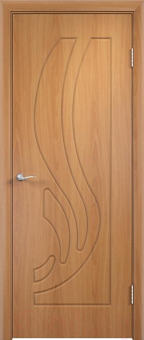 Купить Дверь межкомнатная Юркас, ПВХ Стандарт ПГ Лиана 80x200 (миланский орех), Беларусь