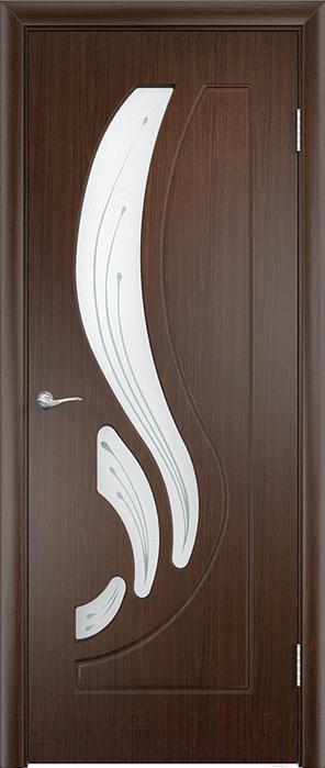 Купить Дверь межкомнатная Юркас, ПВХ Стандарт ПО Лиана 80x200 (венге/мателюкс), Беларусь