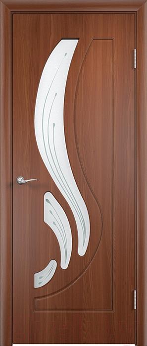 Купить Дверь межкомнатная Юркас, ПВХ Стандарт ПО Лиана 80x200 (итальянский орех/мателюкс), Беларусь