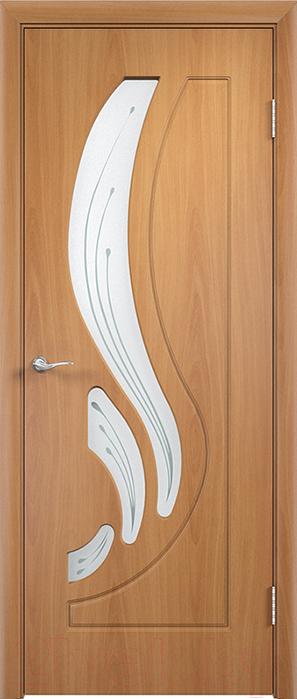 Купить Дверь межкомнатная Юркас, ПВХ Стандарт ПО Лиана 80x200 (миланский орех/мателюкс), Беларусь