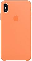 Чехол-накладка Apple Silicone Case для iPhone XS Max Papaya / MVF72 -