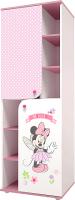 Стеллаж Polini Kids Минни Маус-Фея (белый/розовый) -