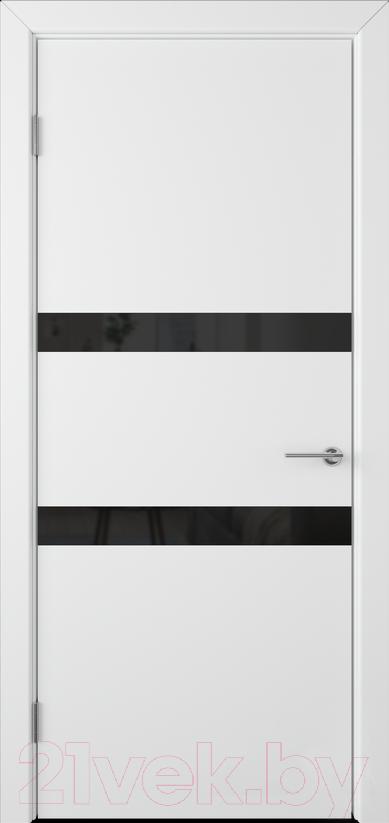 Купить Дверь межкомнатная Юркас, Colorit К6 ДО 70x200 (Lacobel черный/белая эмаль), Беларусь