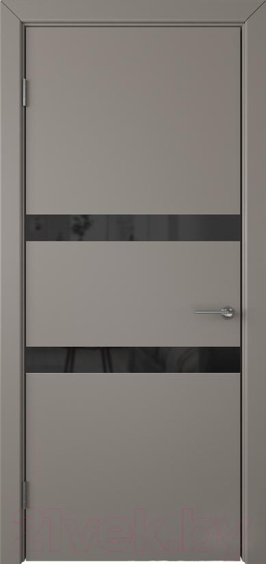 Купить Дверь межкомнатная Юркас, Colorit К6 ДО 80x200 (Lacobel черный/темно-серый), Беларусь