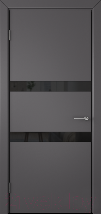 Купить Дверь межкомнатная Юркас, Colorit К6 ДО 70x200 (Lacobel черный/графит), Беларусь