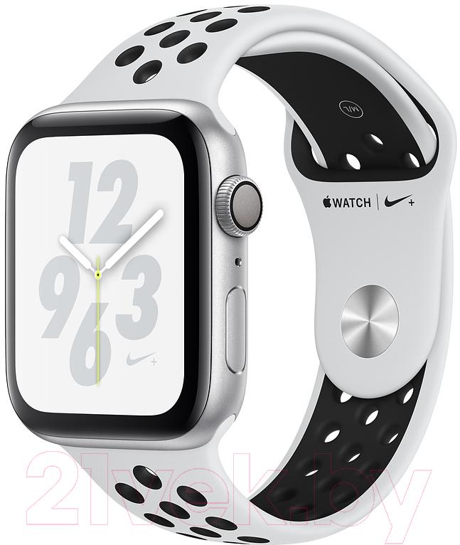 Купить Умные часы Apple, Watch Series 4 Nike+ 40mm / MU6H2 (алюминий серебристый/чистая платина, черный), Китай