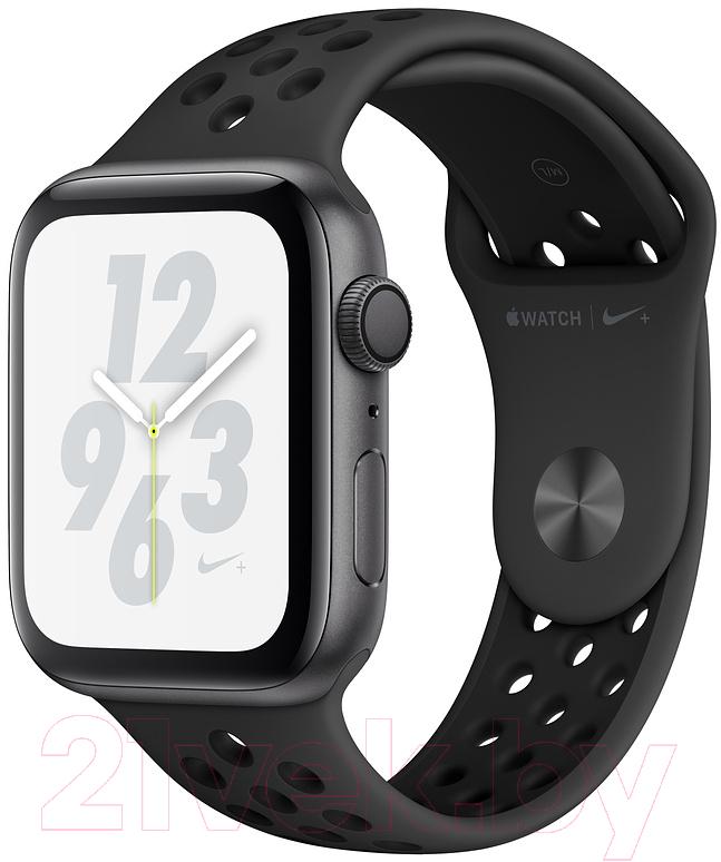 Купить Умные часы Apple, Watch Series 4 Nike+ 40mm / MU6J2 (алюминий серый космос/антрацитовый, черный), Китай