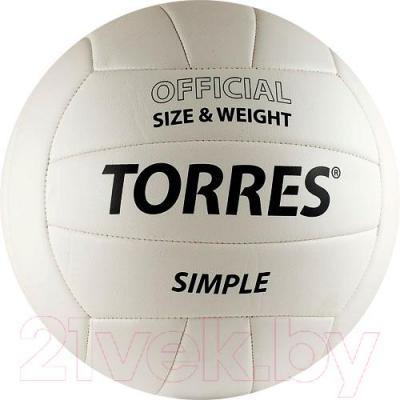 Мяч волейбольный Torres Simple V30105 (White-Black) - общий вид