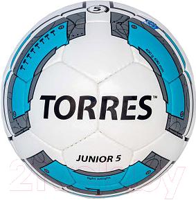 Футбольный мяч Torres Junior-5 F30225 (White-Light Blue-Gray)