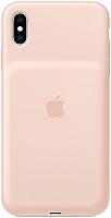 Чехол-зарядка Apple Smart Battery Case для iPhone XS Max Pink Sand / MVQQ2 -