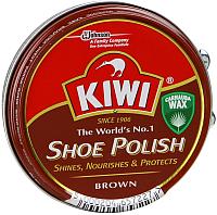 Крем для обуви Kiwi Shoe Polish (50мл, коричневый) -