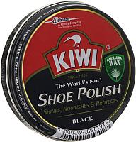 Крем для обуви Kiwi Shoe Polish (50мл, черный) -