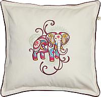 Подушка декоративная MATEX Слон Мехенди / 01-607 (белый/бордовый) -
