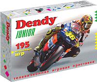 Игровая приставка Dendy Junior 195 игр + световой пистолет -