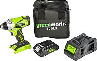 Аккумуляторная дрель-шуруповерт Greenworks G24ID (3802307) -
