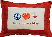 Подушка декоративная MATEX Peace. Love. Wine / 01-249 (грейпфрут) -