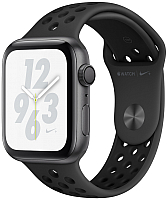 Умные часы Apple Watch Series 4 Nike+ 44mm / MU6L2 (алюминий серый космос/антрацитовый, черный) -